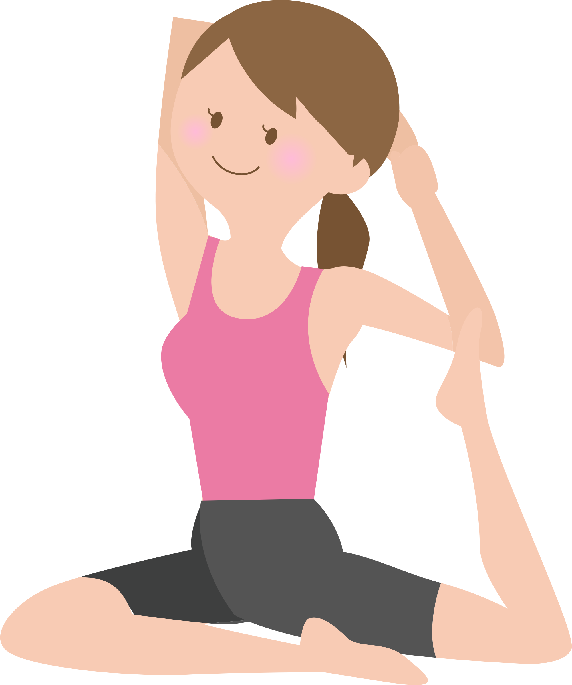 571 Stretching free clipart.