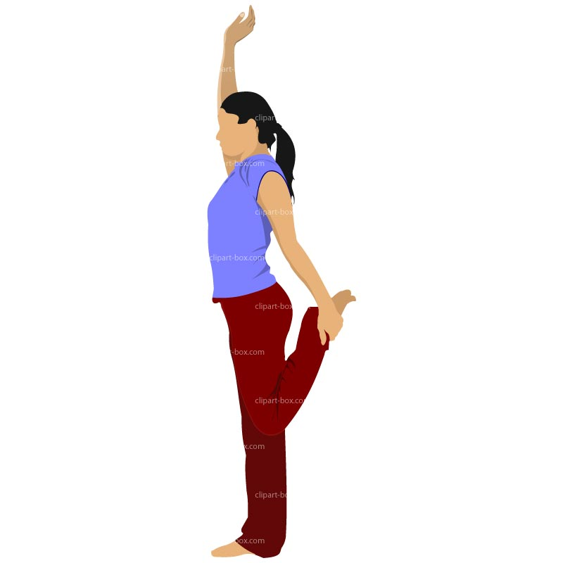 People Stretching Clipart.
