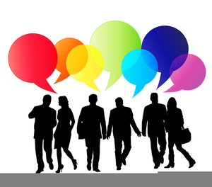 Clipart Of People Talking.