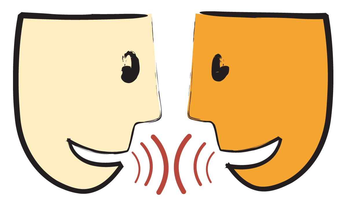 Clip Art People Talking To Each Other N11 free image.