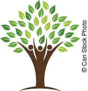 Vector of People tree logo design element csp14413383.