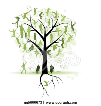 Tree and people clipart for.