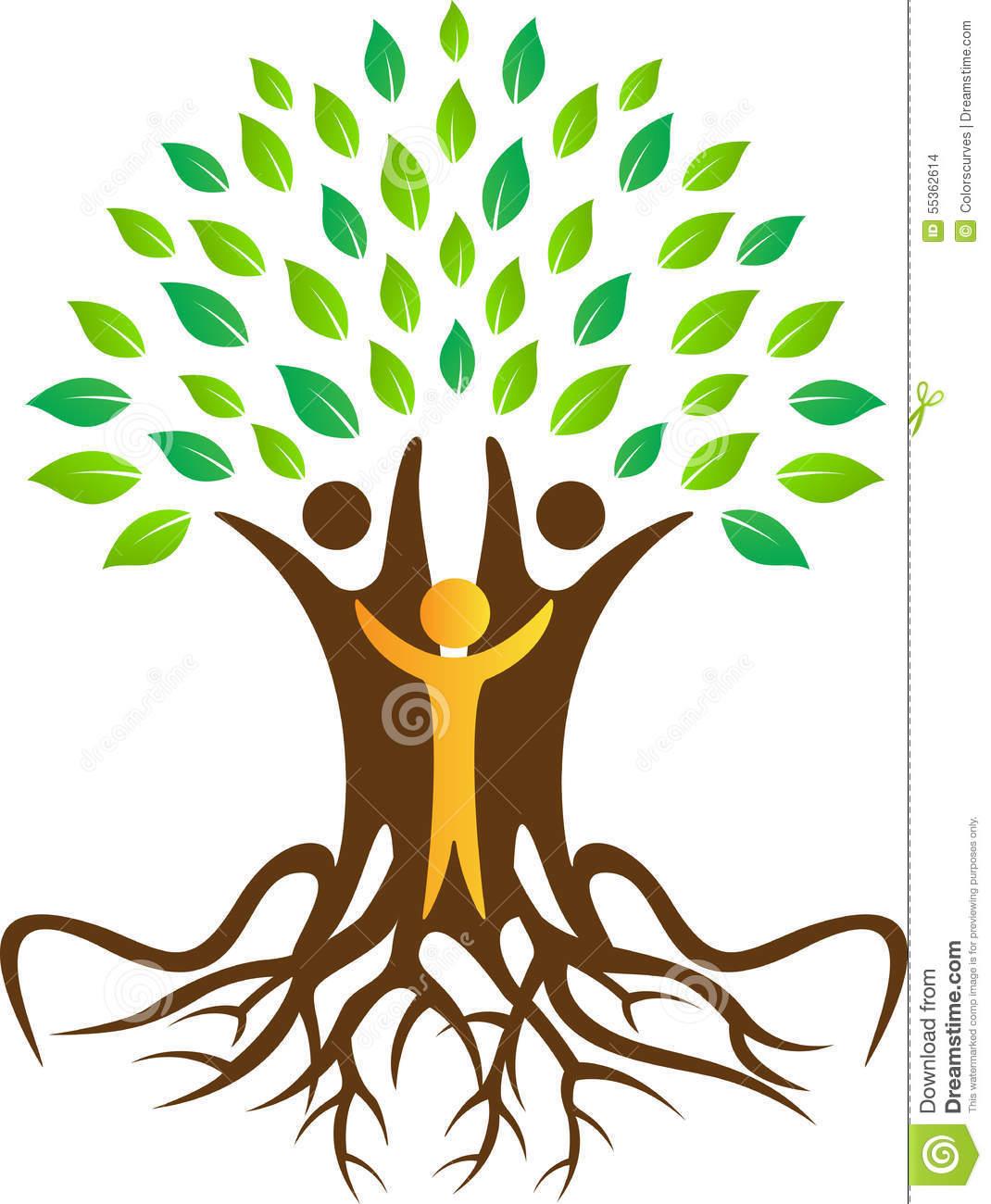 People Tree Stock Vector.