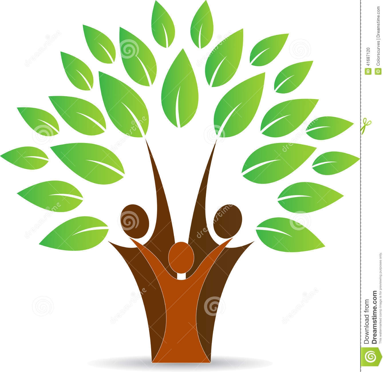 Family Tree With People Clipart.
