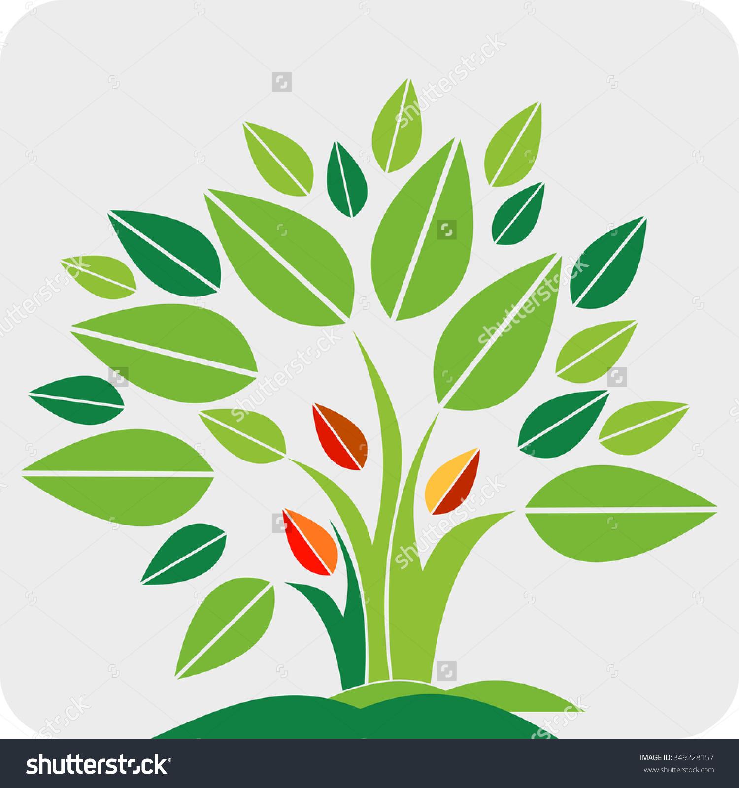 Clipart Teamwork People Tree Logo Icon Stock Vector 349228157.