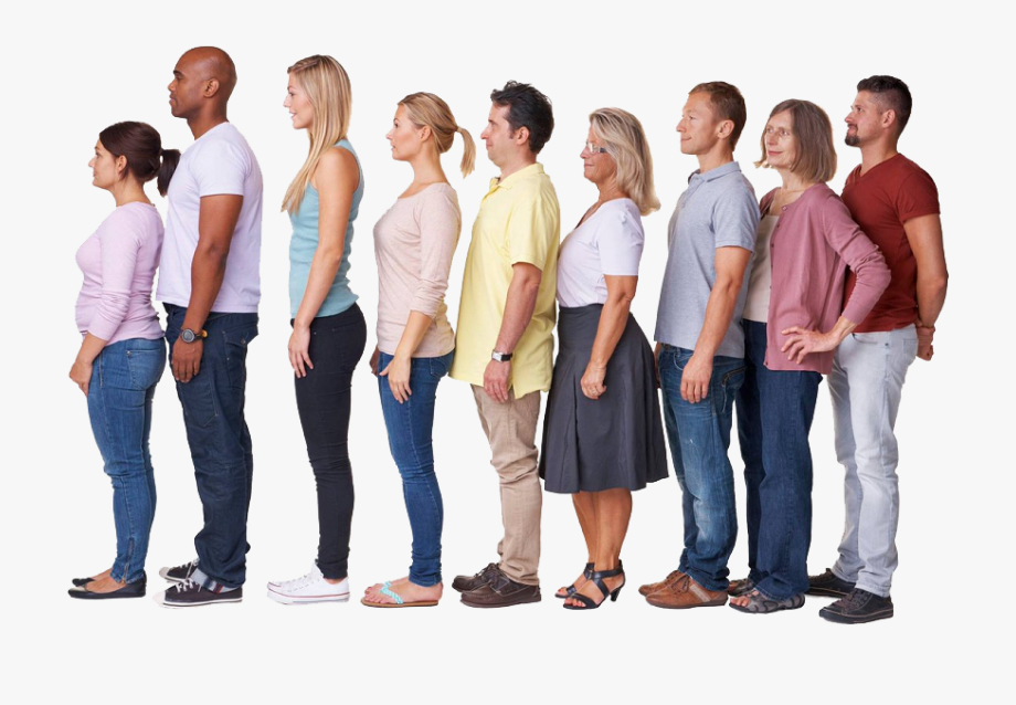 Line Of People Png.