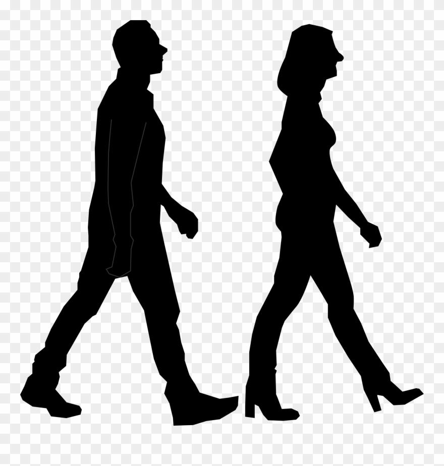 Walking Silhouette Person.