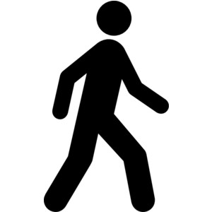 People walking clip art.