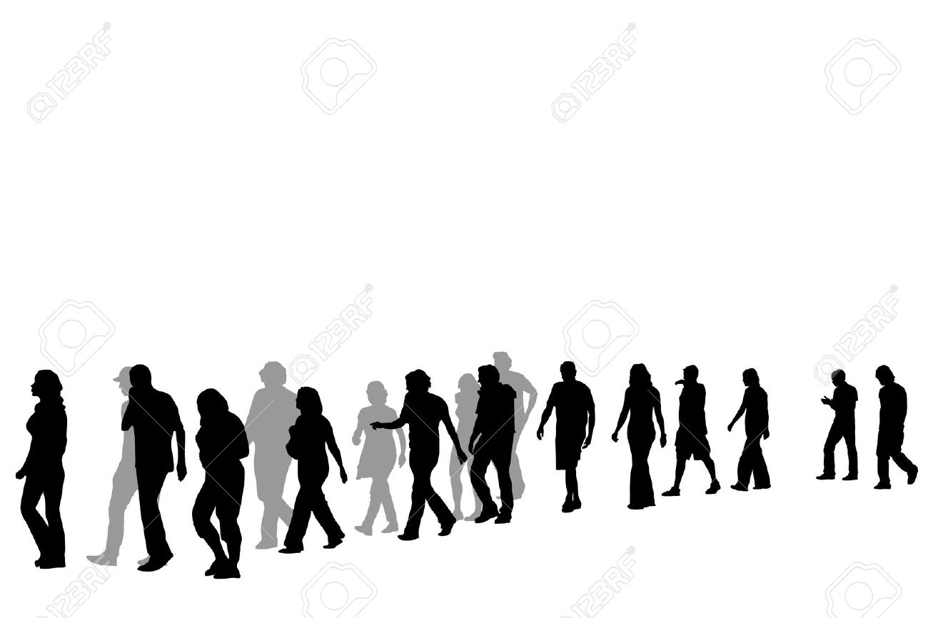 Clipart People Walking Together.