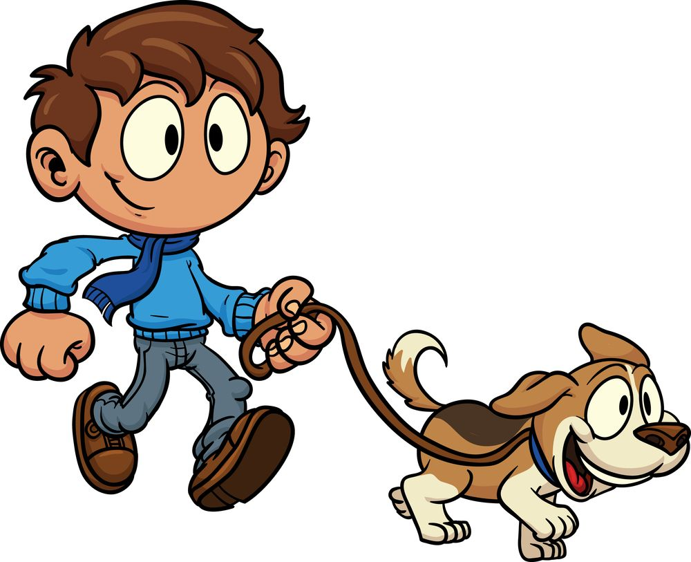 Walking dog clipart.