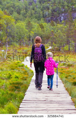 People Walking Off The Trail Clipart.