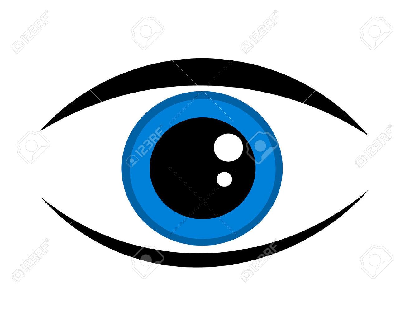 1 blue eye clipart.