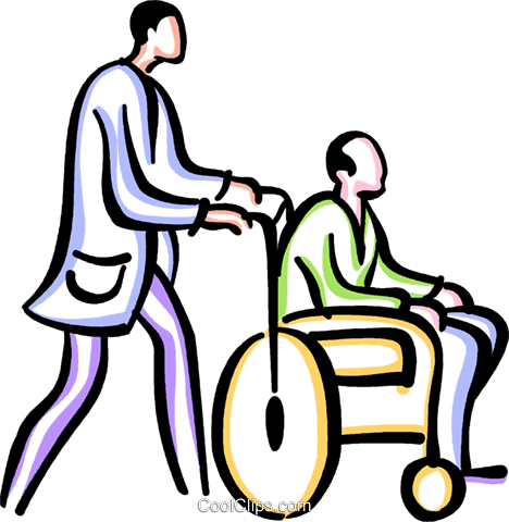 People with Disabilities Royalty Free Vector Clip Art.