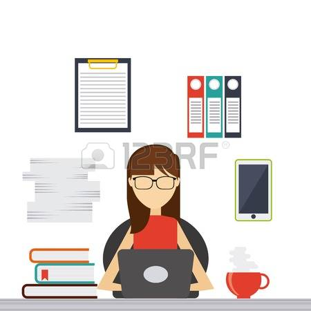 16,131 People With Tablet Flat Stock Vector Illustration And.