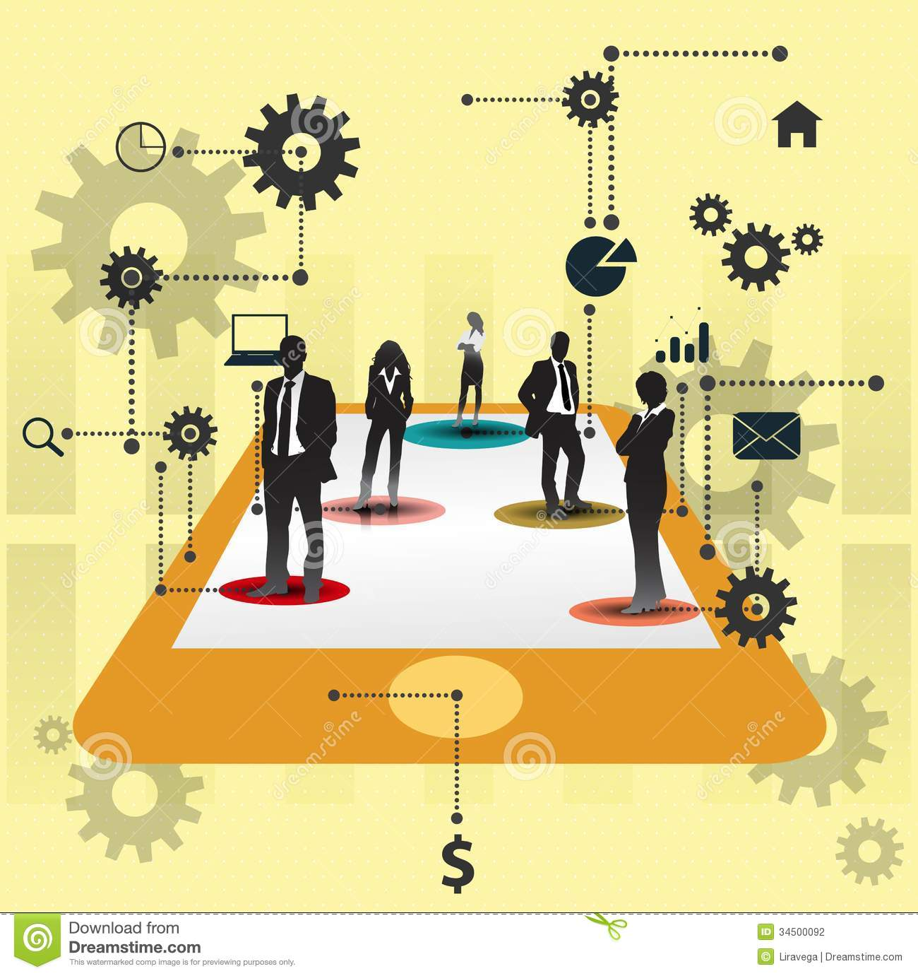 Business People Working Together.Cooperation Concept Design. Stock.