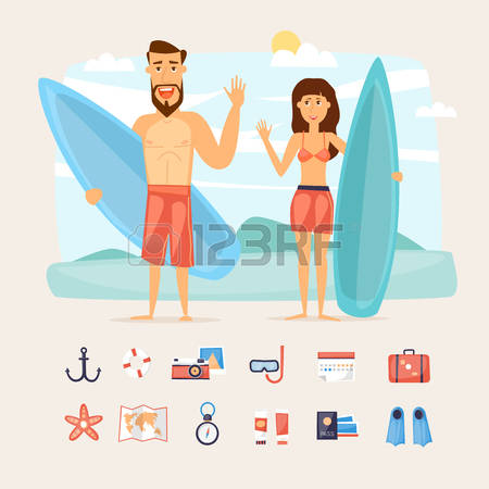 1,961 Happy Family Beach Stock Vector Illustration And Royalty.
