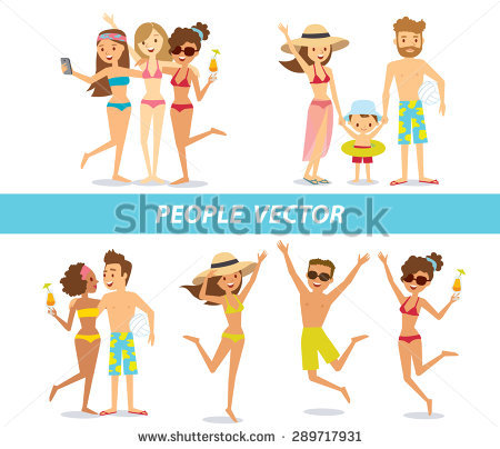 People On Beach Stock Vectors, Images & Vector Art.