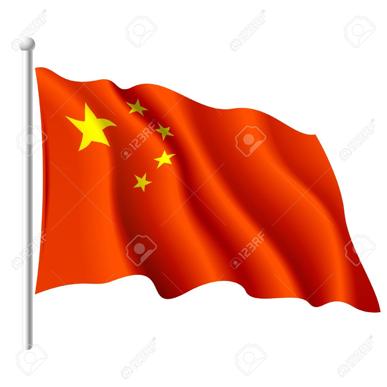 Flag Of The People's Republic Of China Royalty Free Cliparts.