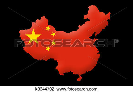 Clip Art of People's Republic of China k3344702.