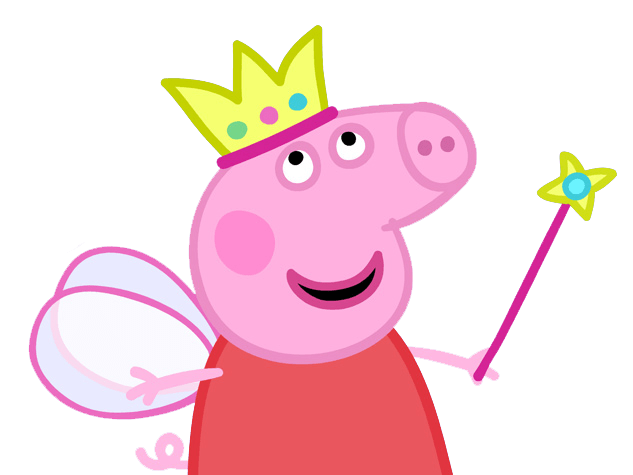 Peppa Pig Queen transparent PNG.