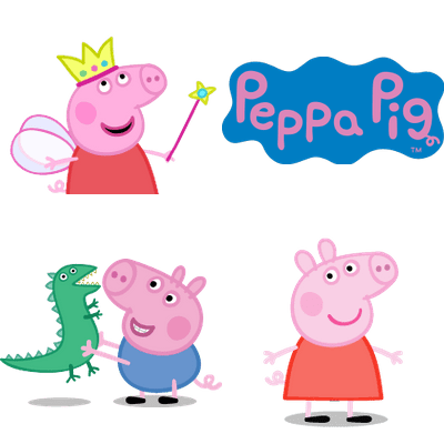 Peppa Pig transparent PNG images.