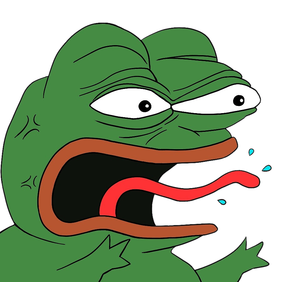 Angry Pepe transparent PNG.