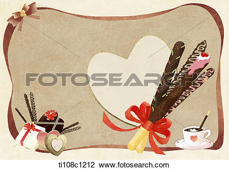 Clip Art of illustration of pepero day ti108c1212.
