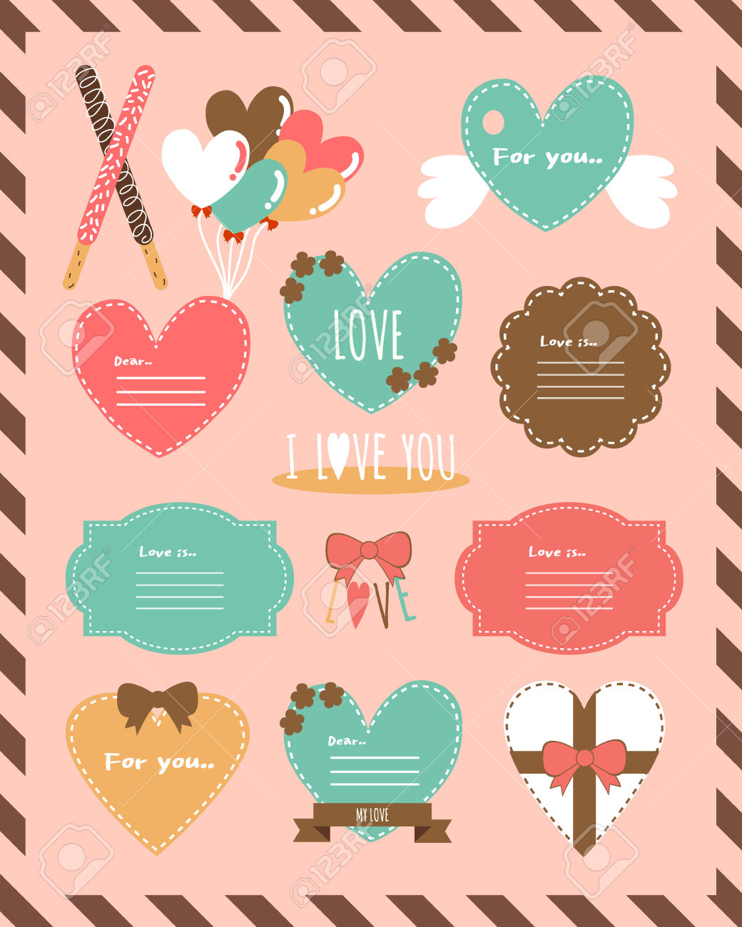 Pepero Day Design Source 2label Set Royalty Free Cliparts, Vectors.