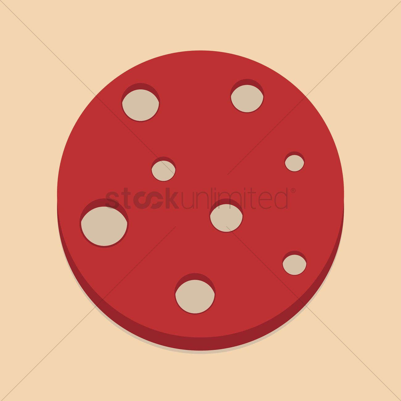 Beef pepperoni slice Vector Image.