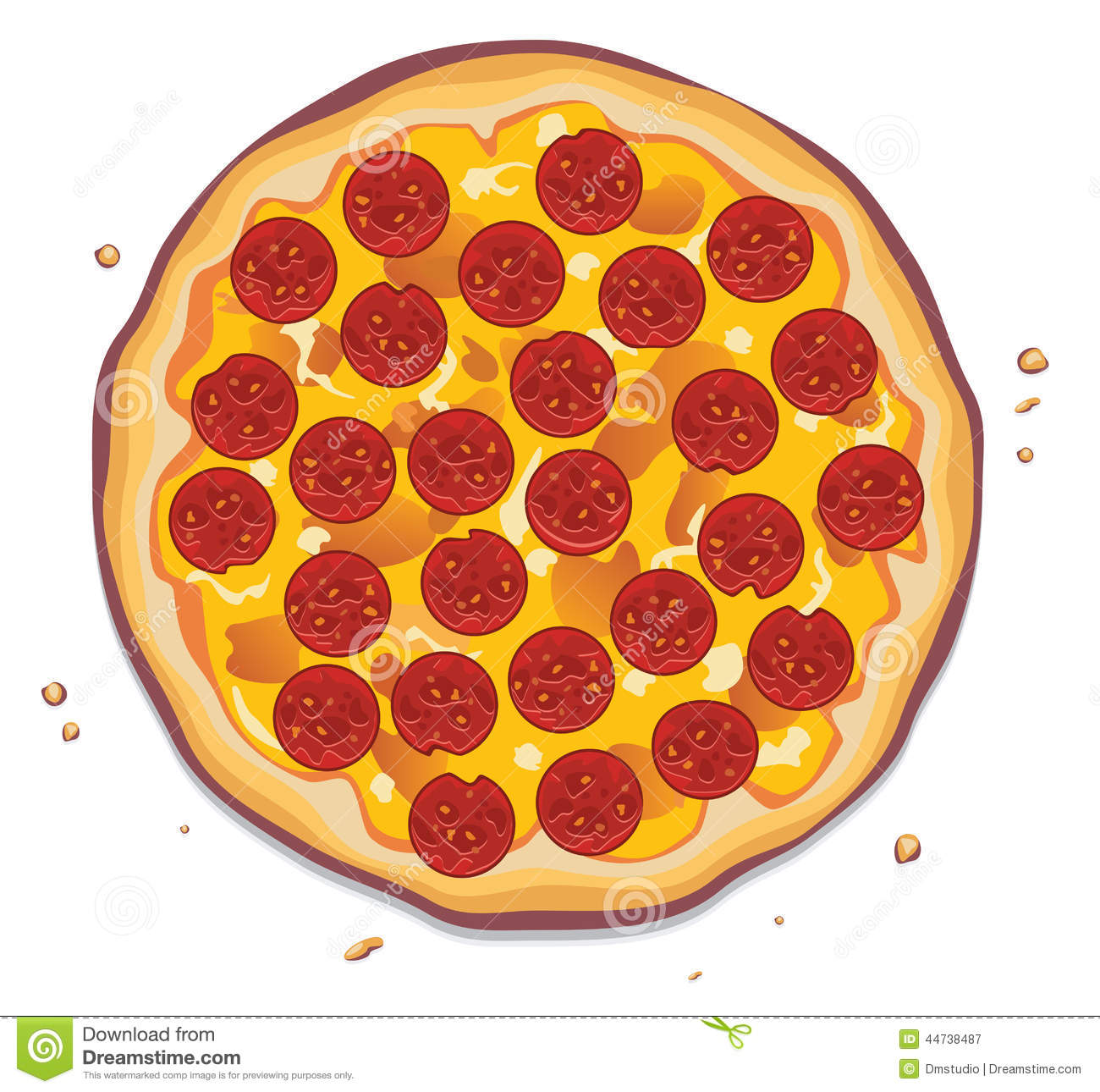 Pepperoni Pizza Slice Clipart.