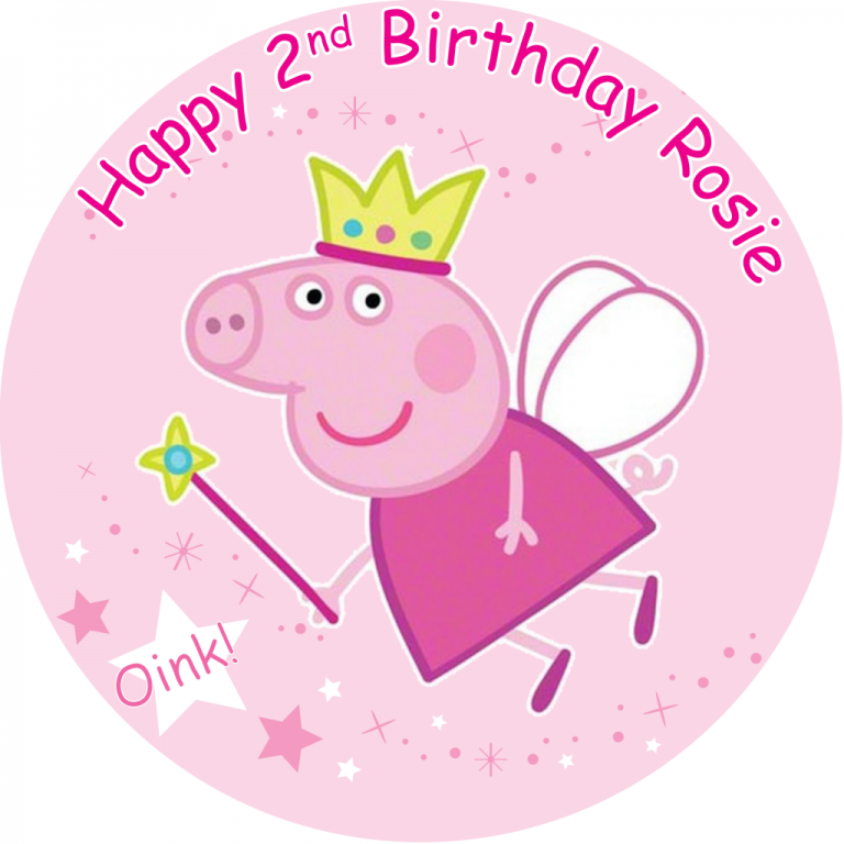 Peppa Pig Birthday clipart.