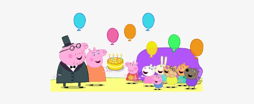 Clip Art Free Stock Images Cartoon Peppapigpartyballonscake.