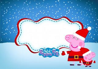 Peppa Pig in Christmas: Free Printable Invitations..