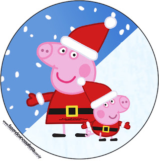 Peppa Pig in Christmas: Free Printable Candy Bar Labels..