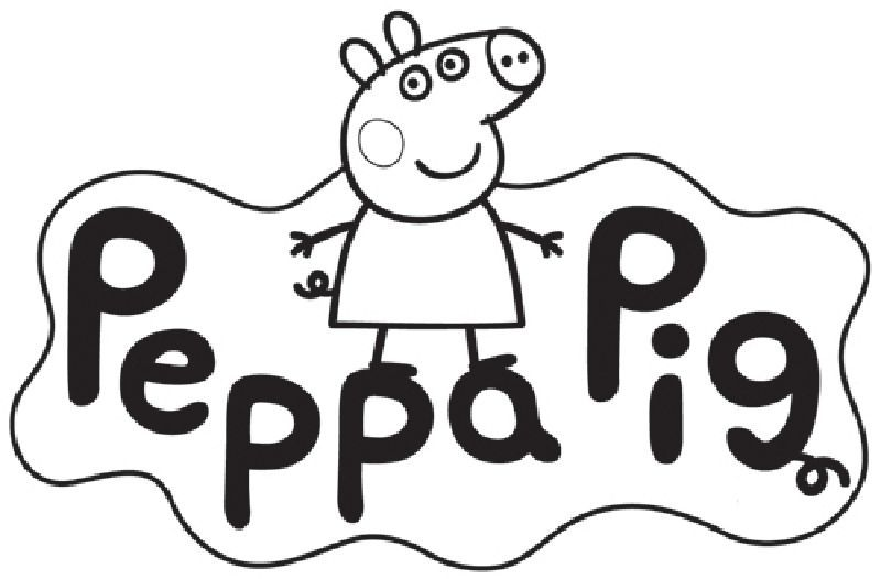 Peppa pig clipart black and white 4 » Clipart Portal.