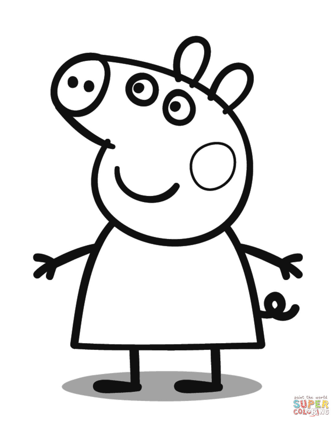 Peppa Pig coloring pages.