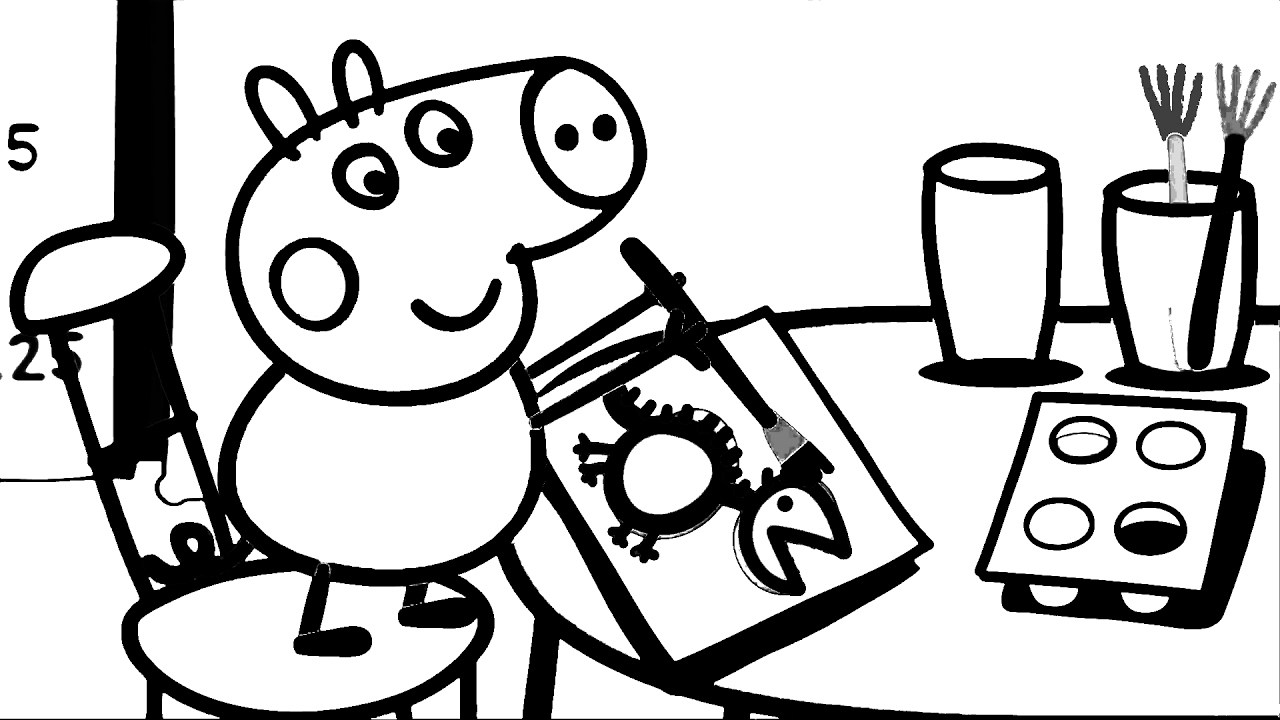Peppa pig black and white clipart 4 » Clipart Portal.
