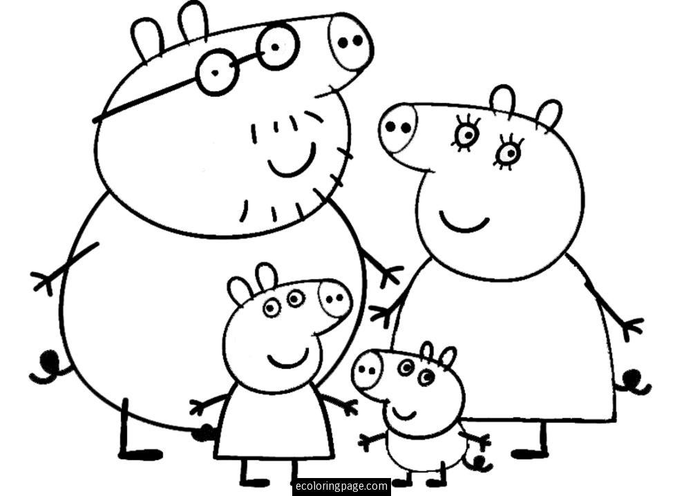 Peppa pig clipart black and white 3 » Clipart Portal.