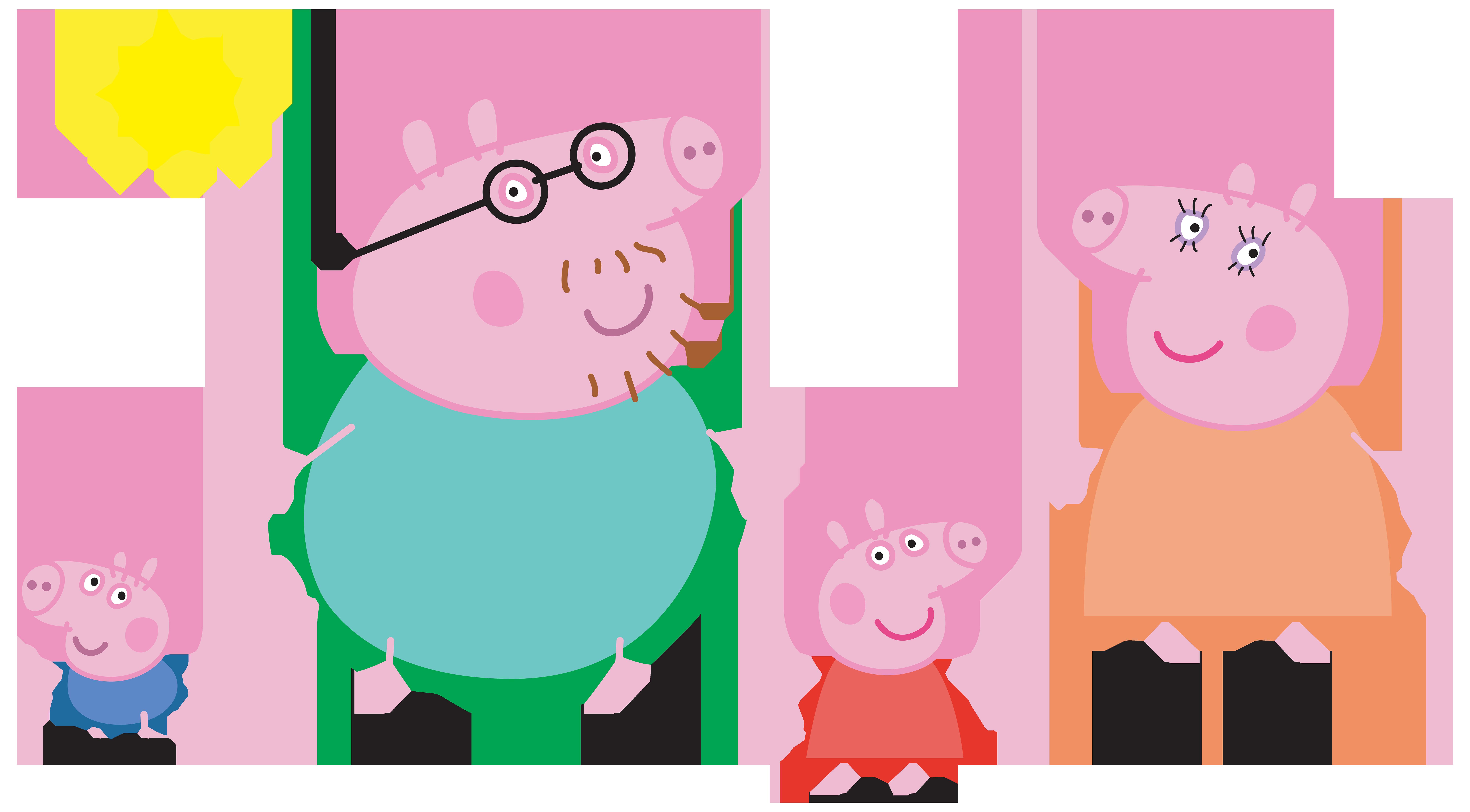 Paultons Park Domestic pig Brand Illustration.