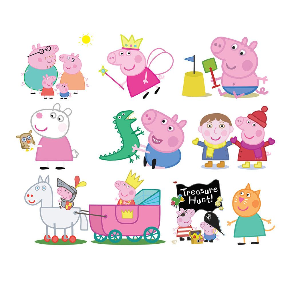 Free download Printable Peppa Pig Clipart for your creation.