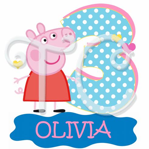 Peppa Pig Fairy Personalized Birthday t shirt.