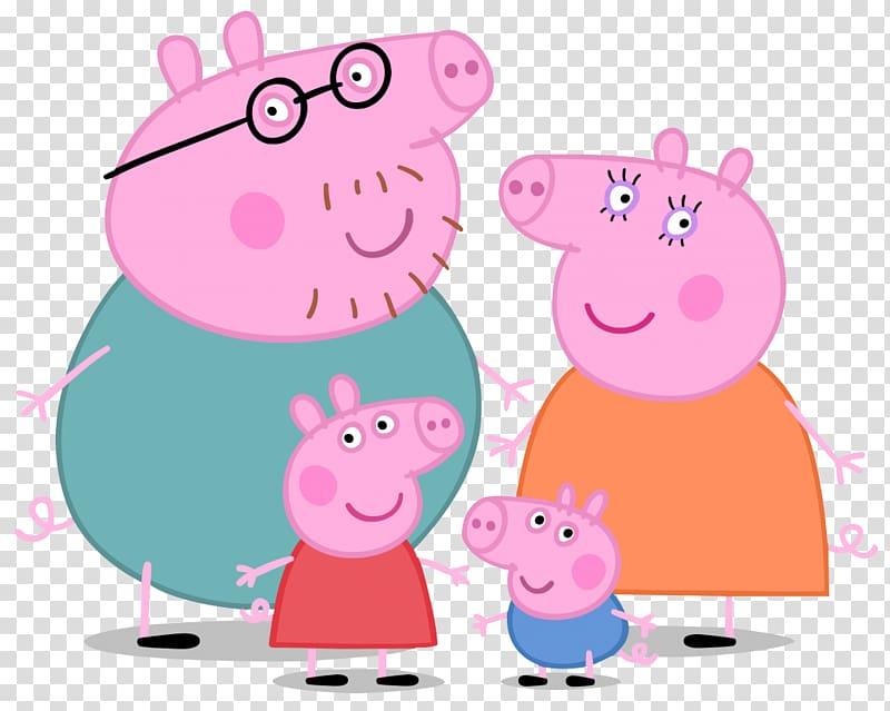 Peppa Pig, George, Mama Pig, and Papa Pig , Daddy Pig Mummy.