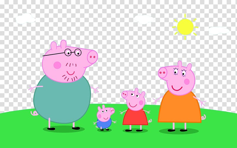 Pig family illustration, Daddy Pig Animated cartoon.
