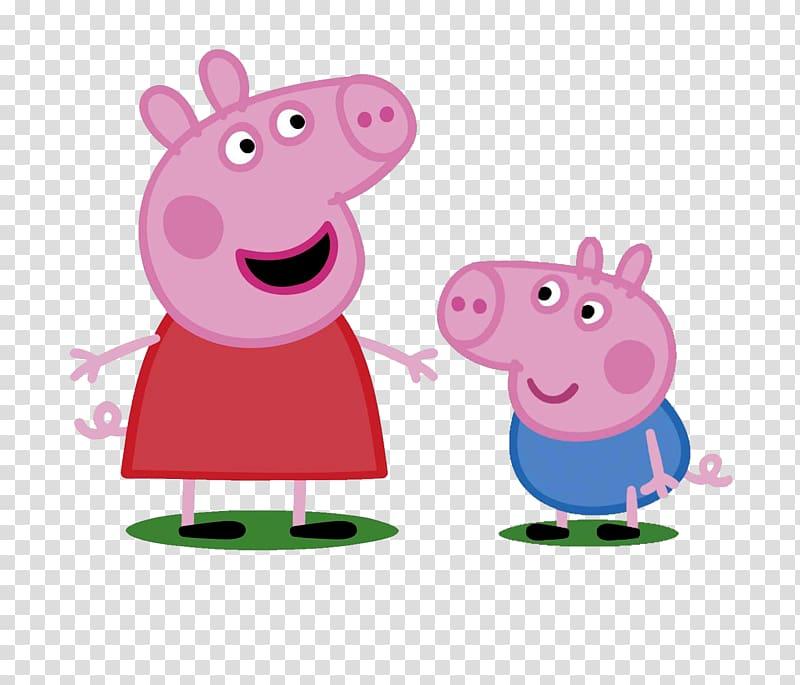 Peppa Pig illustration, Daddy Pig Mummy Pig George Pig.