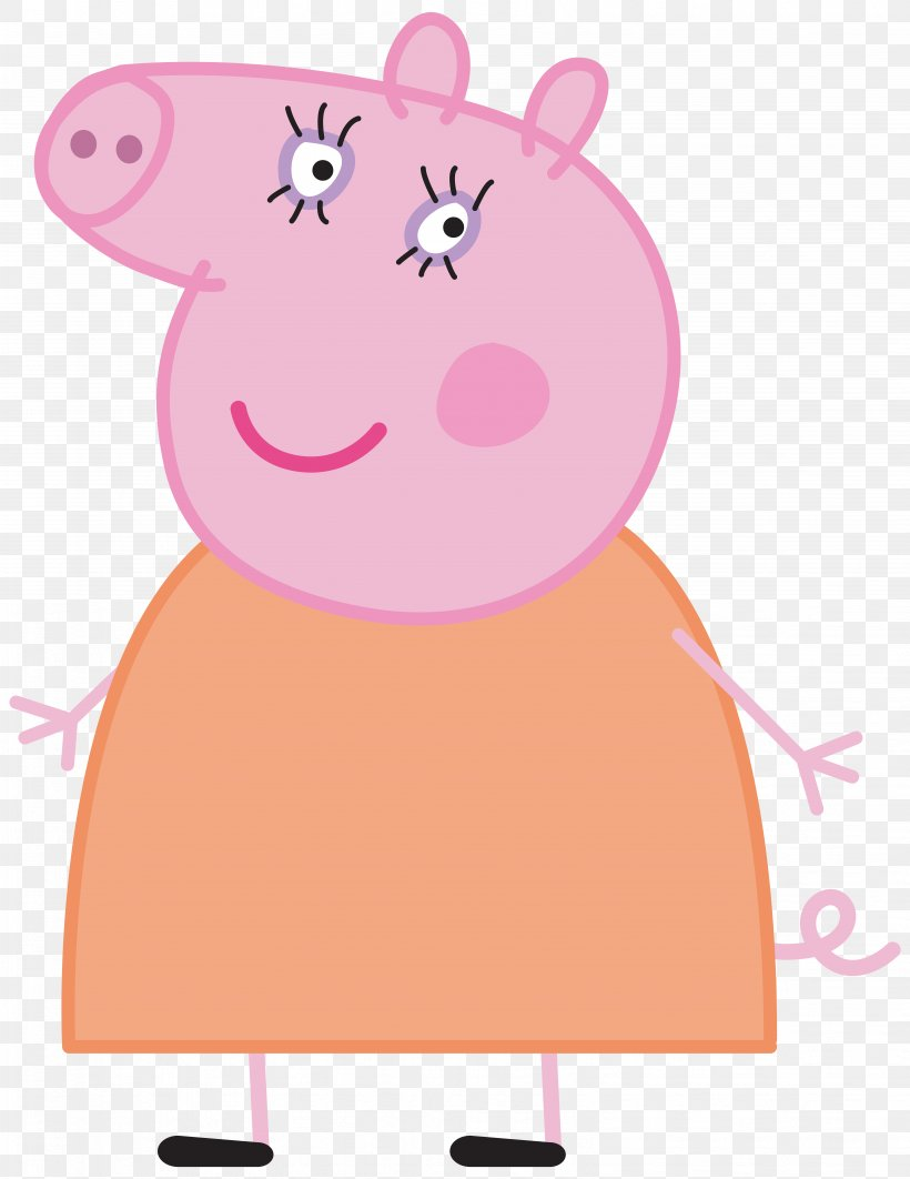 Daddy Pig Mummy Pig Clip Art, PNG, 6174x8000px, Watercolor.