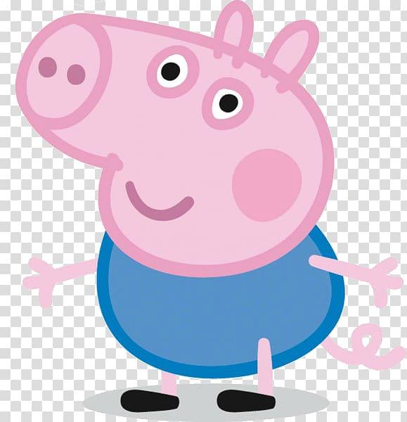 Daddy Pig Animated cartoon, PEPPA PIG transparent background.