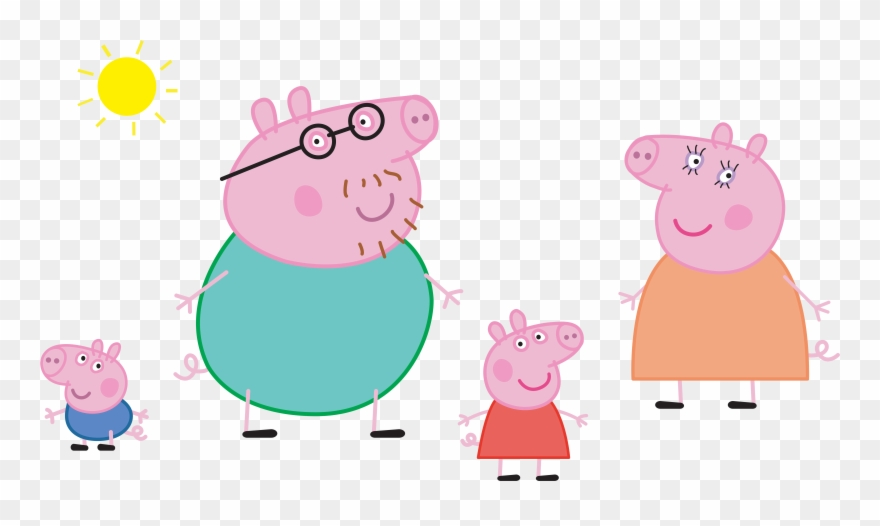 Peppa Pig Family Png Clipart (#454399).