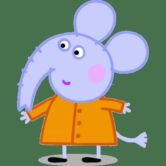 Imágenes de personajes amigos de Peppa Pig.