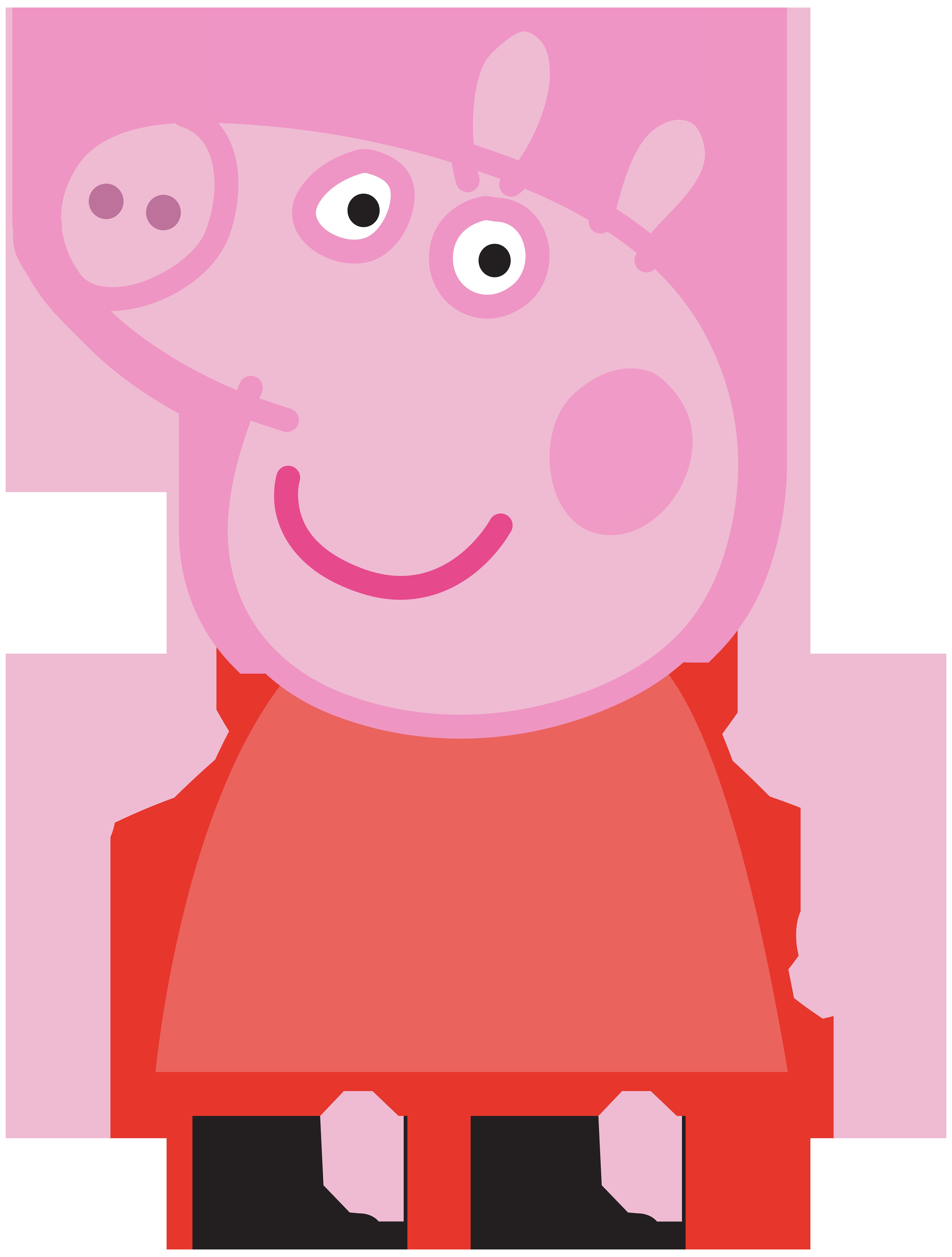 Peppa Pig Transparent PNG Image.