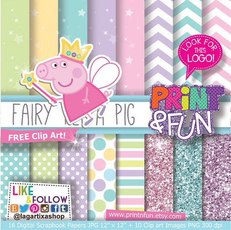Fairy Digital Paper, Princess Fairies, Glitter, clip art.